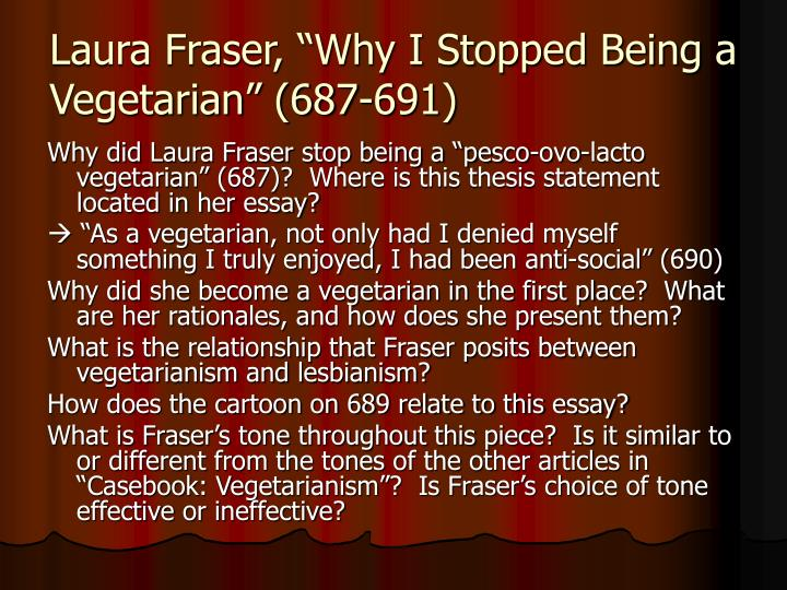 why be a vegetarian essay