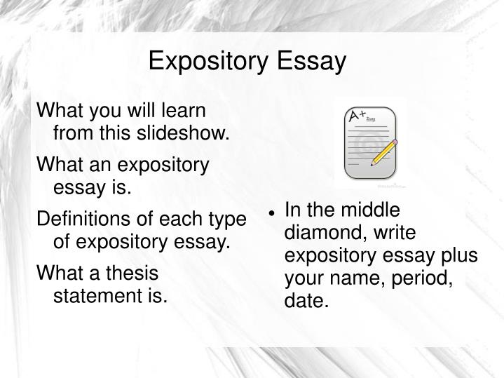 expository essay topic