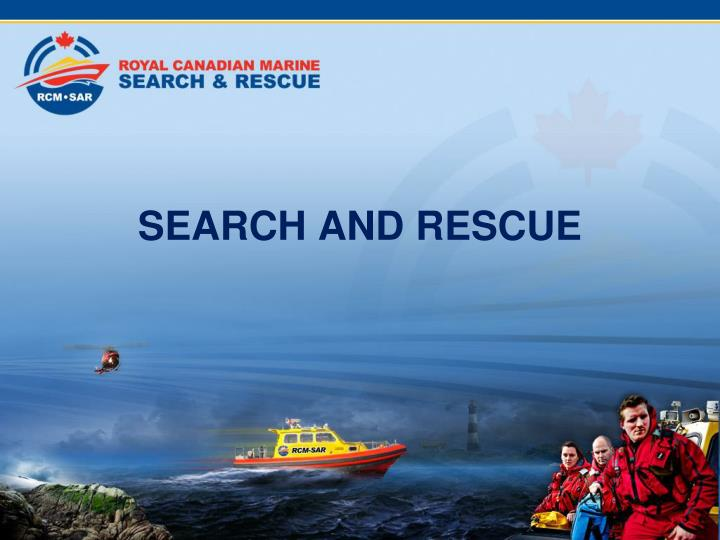 search and rescue n.