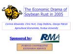 The Economic Drama of Soybean Rust in 2005