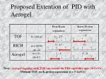 Proposed Extention of  PID with Aerogel