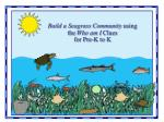 Build a Seagrass Community using the Who am I Clues for Pre-K to K