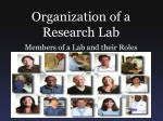Organization of a Research Lab