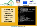 Training on intercultural through Experiential Learning & Outdoor Education