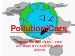 Pollution/Cars