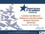 Looking for Results: Principles for Evaluating Student Success Initiatives