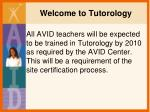 Welcome to Tutorology