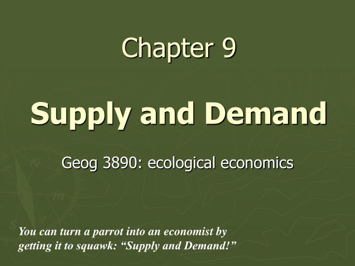 chapter 9 supply and demand n.
