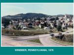 WINDBER, PENNSYLVANIA, 1976