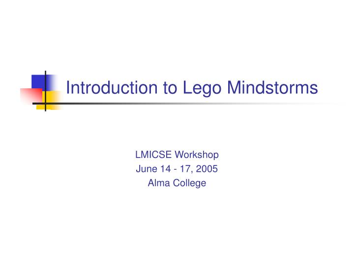 introduction to lego mindstorms n.