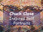 Chuck Close Inspired Self Portraits