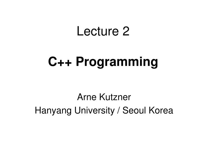 lecture 2 c programming n.