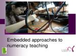 Embedded approaches to numeracy teaching