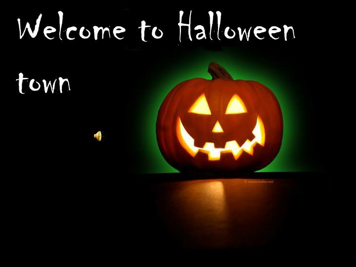 welcome to halloween town n.