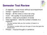 Semester Test Review