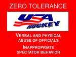 V ERBAL AND PHYSICAL ABUSE OF OFFICIALS I NAPPROPRIATE SPECTATOR BEHAVIOR