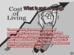 What is cost of living?
