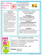 Mrs.  Volpe's  February News