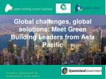 Global challenges, global solutions: Meet Green Building Leaders from Asia Pacific