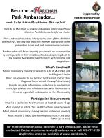 Become a Park Ambassador...