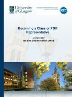 Becoming a Class or PGR Representative