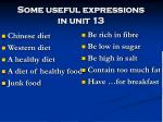 Some useful expressions  in unit 13