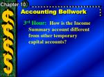 Accounting Bellwork