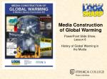 Media Construction of Global Warming