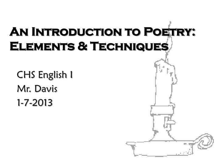 an introduction to poetry elements techniques n.