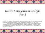 Native Americans in Georgia Part I