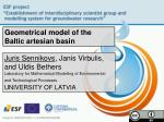 Geometrical model of the Baltic artesian basin