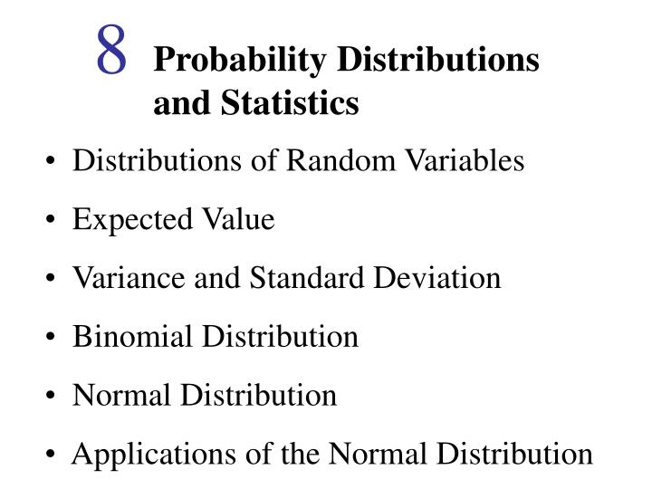 PPT - Probability Distributions and Statistics PowerPoint