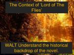 The Context of 'Lord of The Flies'