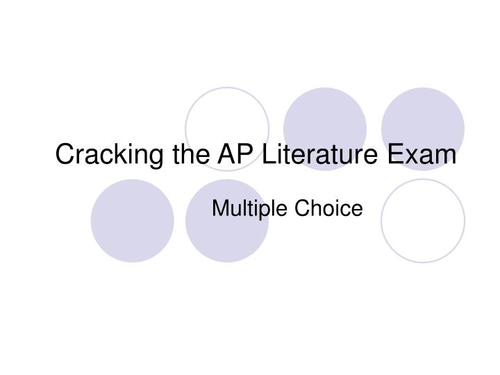 cracking the ap literature exam n.