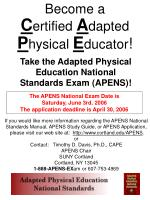 Become a C ertified A dapted P hysical E ducator !