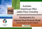 Australian Greenhouse Office Jaakko Pöyry Consulting