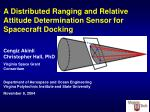 A Distributed Ranging and Relative Attitude Determination Sensor for Spacecraft Docking