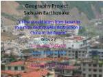 Geography Project Sichuan Earthquake