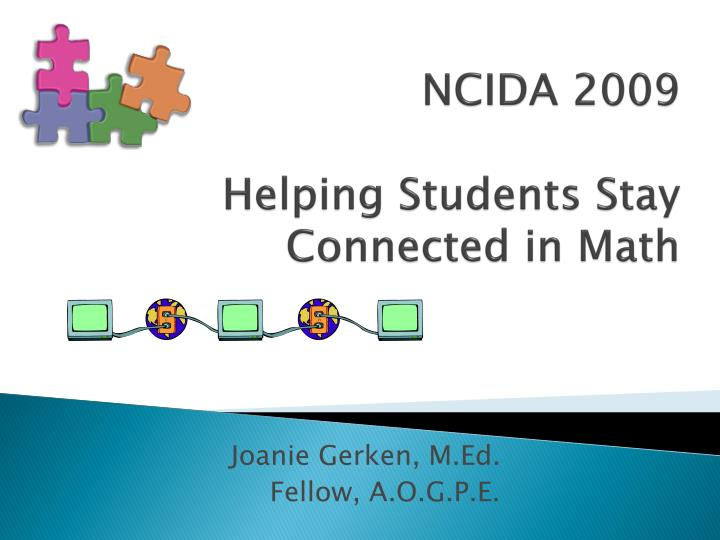 ncida 2009 helping students stay connected in math n.