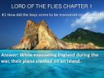 LORD OF THE FLIES CHAPTER 1