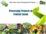 Processing Projects in Central Luzon
