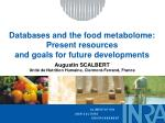 Databases and the food metabolome: Present resources and goals for future developments