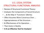 U.S. LEGAL SYSTEM: STRUCTURAL-FUNCTIONAL ANALYSIS