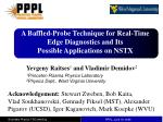 A Baffled-Probe Technique for Real-Time Edge Diagnostics and Its Possible Applications on NSTX