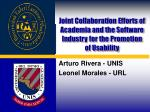 Joint Collaboration Efforts of Academia and the Software Industry for the Promotion of Usability