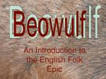 An Introduction to the English Folk Epic
