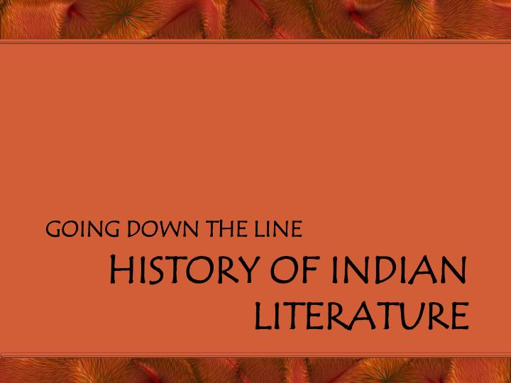 history of indian literature n.