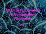 AP English Literature & Composition Vocabulary