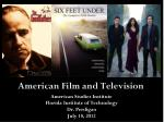 American Film and Television