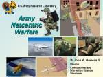 Army Netcentric Warfare